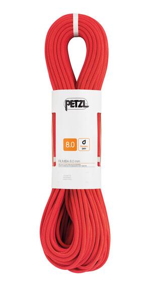 Petzl Rumba - Cuerdas de escalada - 8mm x 50m rojo